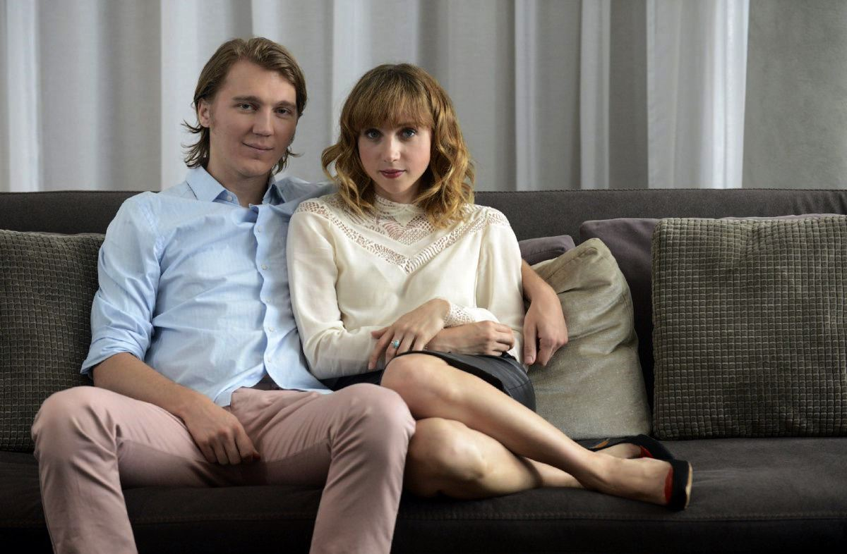 Writer Paul Dano and his ideal woman brought to life (Zoe Kazan also the film's screenwriter) in Ruby Sparks (2012)