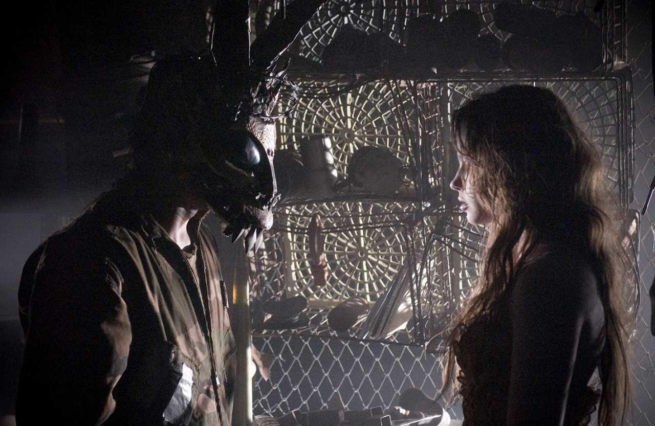 Samantha Darko (Daveigh Chase) with Frank the Rabbit in S. Darko (2009)
