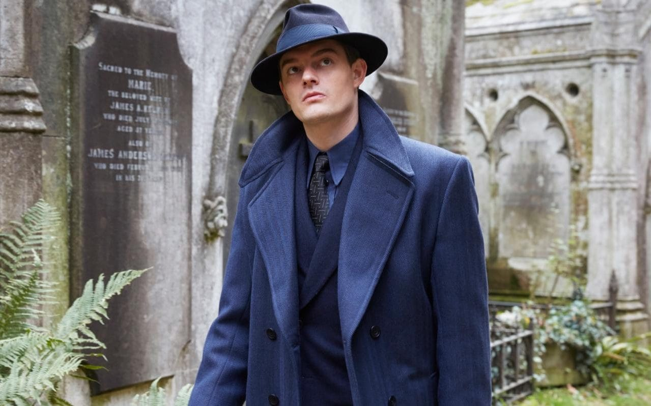 Sam Riley as Douglas Archer, a Scotland Yard detective in a Nazi-ruled Britain in SS-GB (2017)