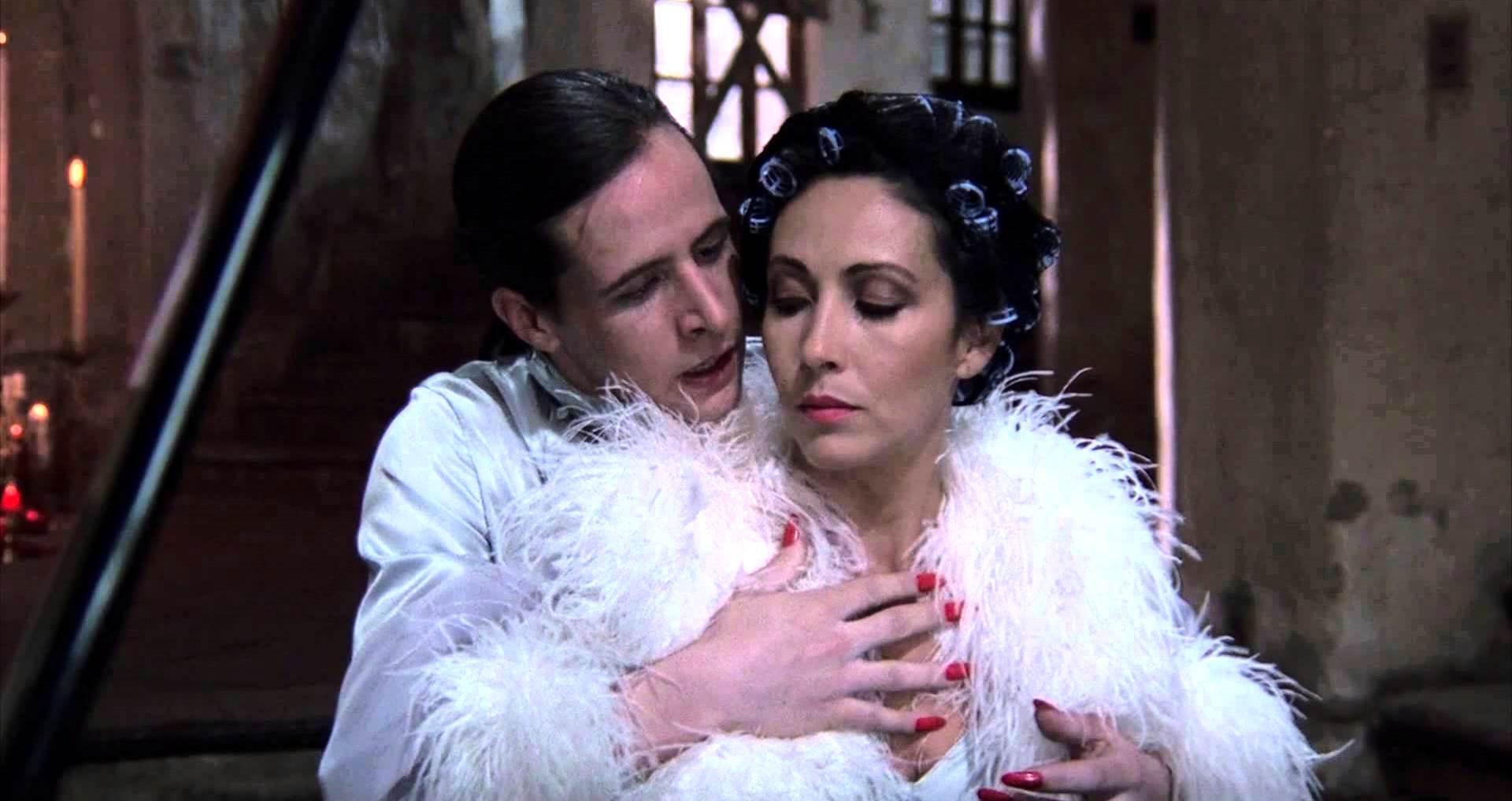 Mother and son mime act - Fenix (Axel Jodorowsky) and Concha (Blanca Guerra) in Santa Sangre (1989)