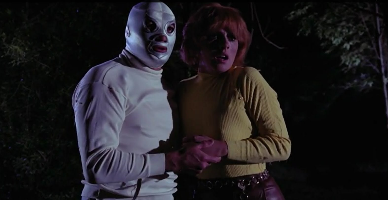 Santo and Ariel set out in search of Frankenstein's daughter in Santo vs Frankenstein's Daughter (1972)