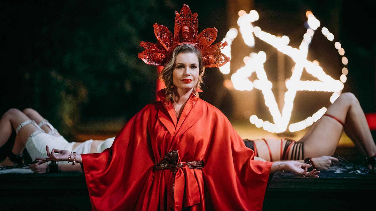 Rebecca Romijn as Danica Ross in Satanic Panic (2019)