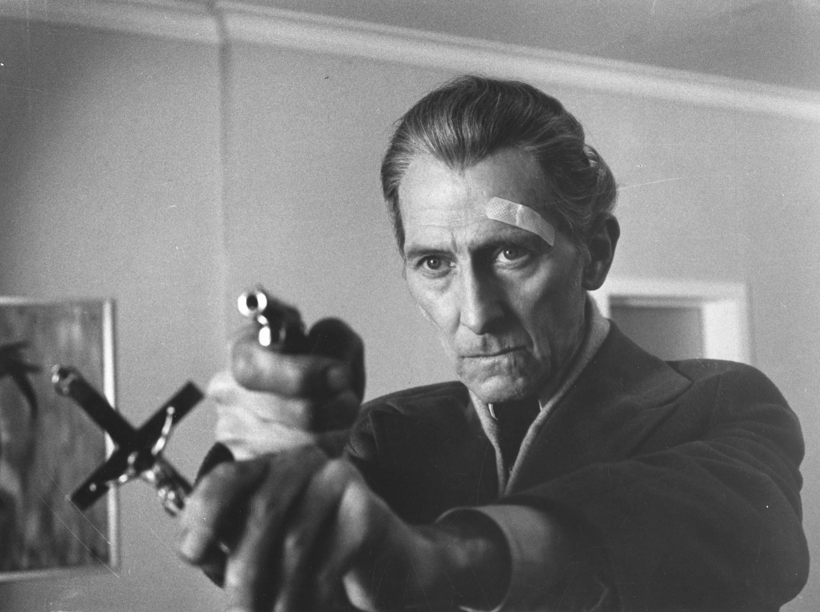 Peter Cushing as Lorrimer Van Helsing in The Satanic Rites of Dracula (1973)