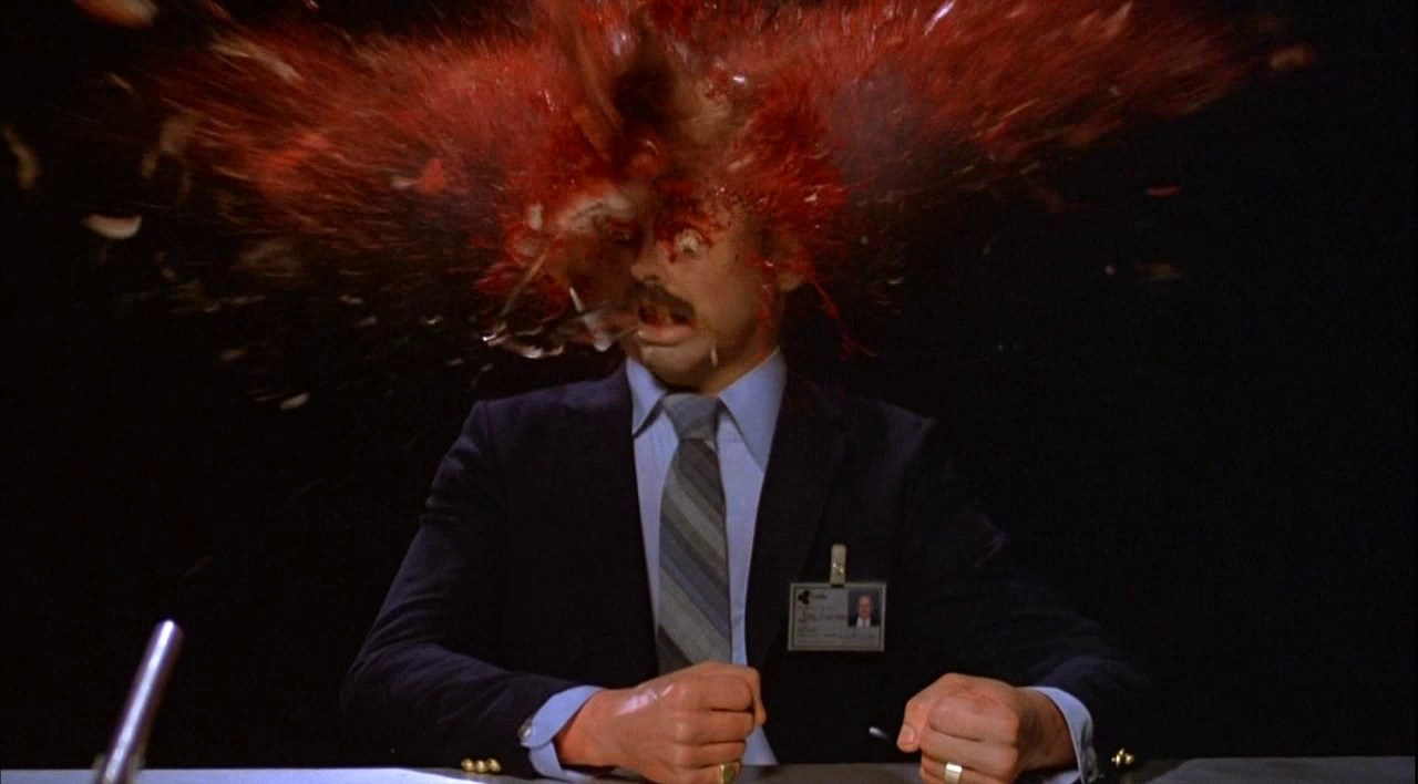 Louis Del Grande loses his head in Scanners (1981)