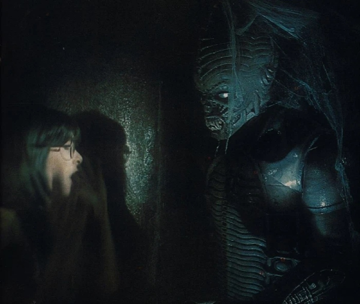 Toni Jannotta encounters the Syngenor in Scared to Death (1980)