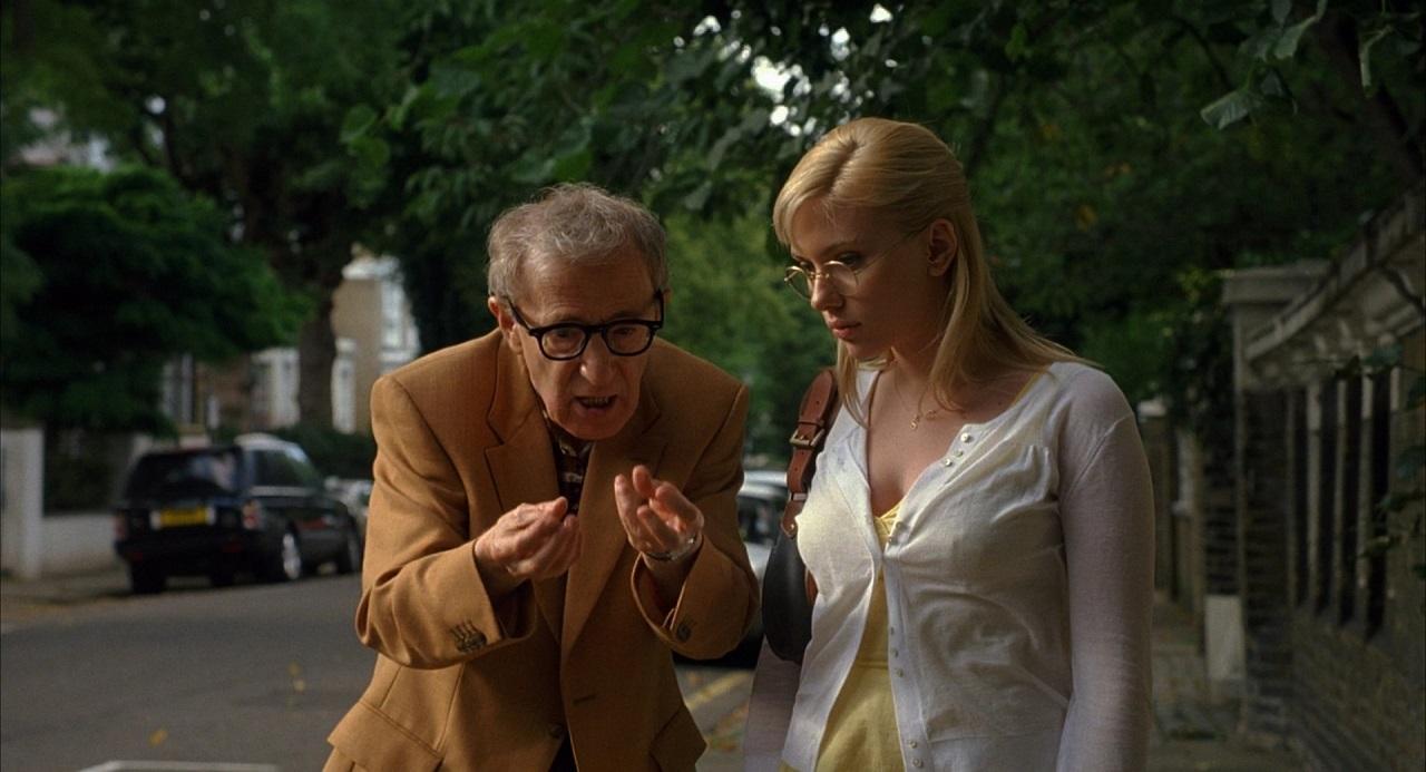 Woody Allen and Scarlett Johansson in Scoop (2006)
