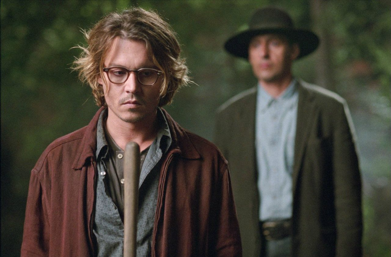 Johnny Depp, John Turturro in Secret Window (2004)