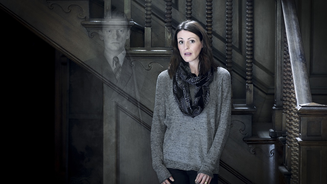 Eve Caleigh (Suranne Jones) and the ghost of Douglas Henshall in The Secret of Crickley Hall (2012)