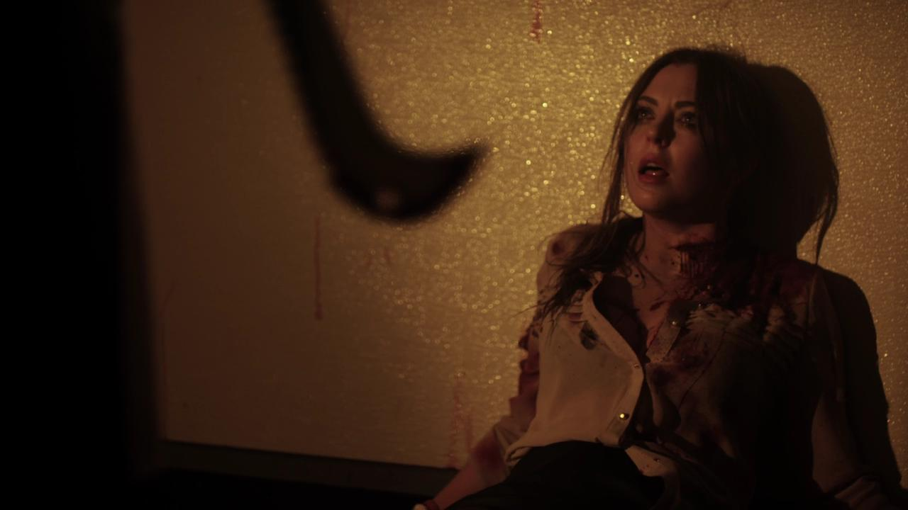 Katharine Isabelle menaced by Jacob Goodnight in See No Evil 2 (2014)