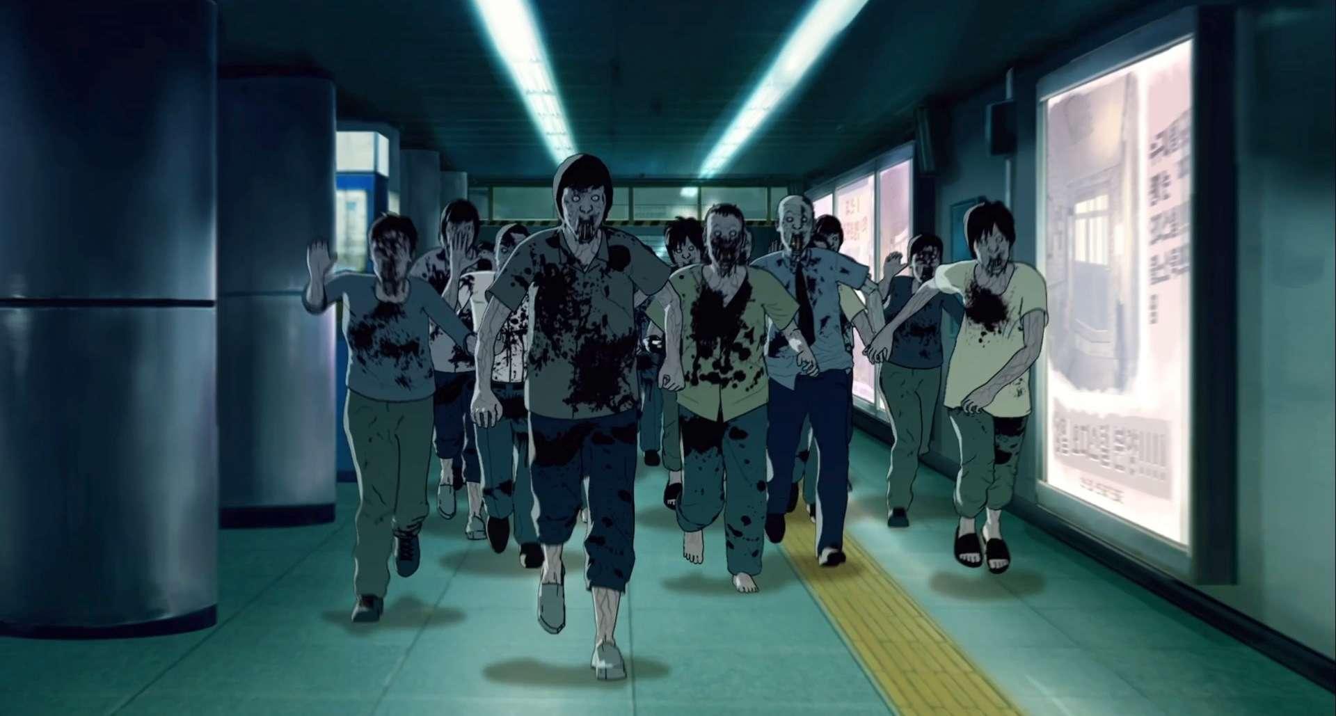 Animated zombie hordes invade Seoul Station (2016)