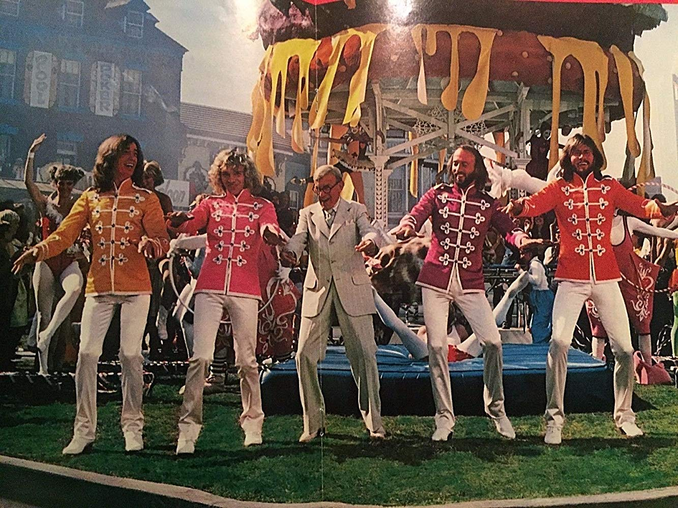 The Bees Gees and Peter Frampton dance with George Burns in Sgt Peppers Lonely Hearts Club Band (1978)