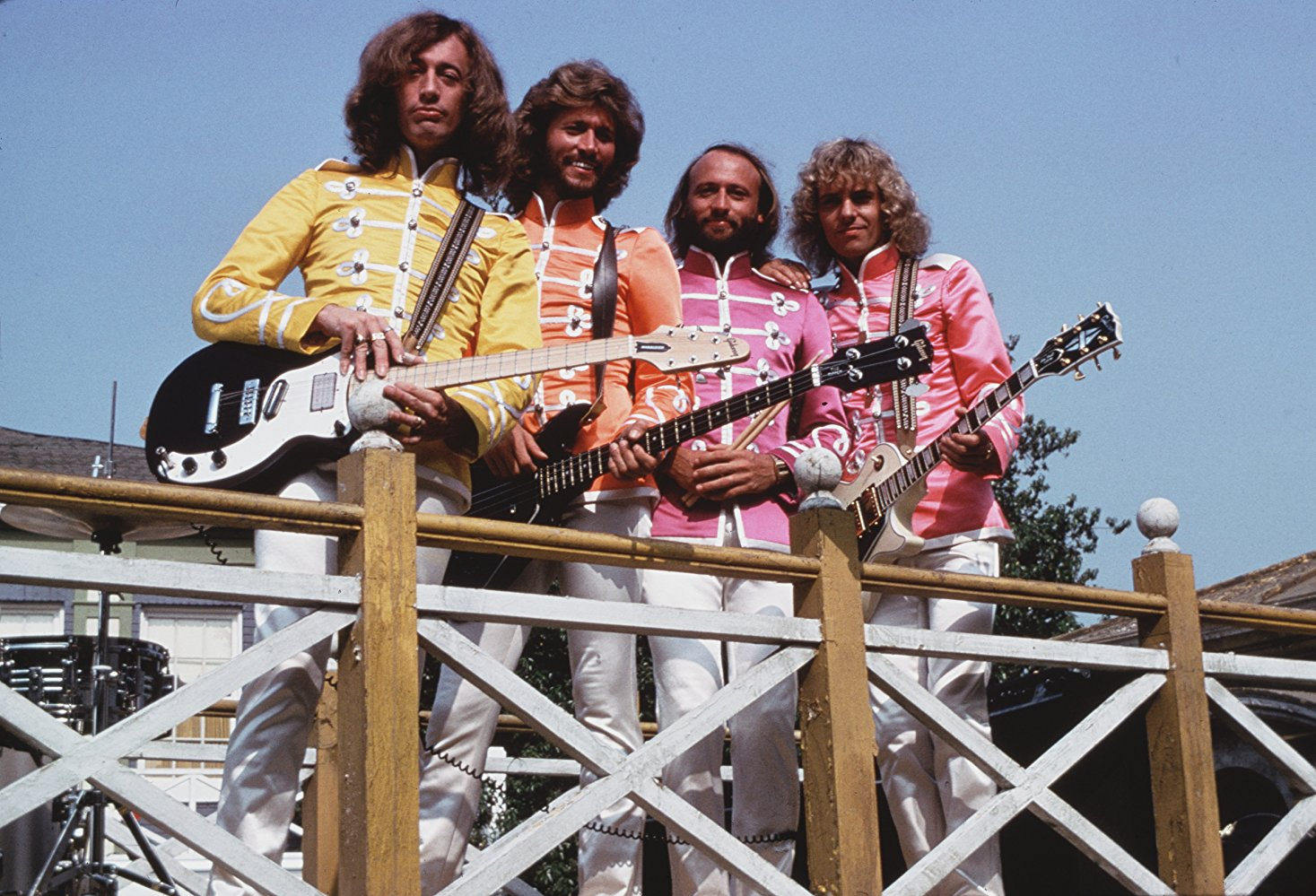 The Bee Gees with Peter Frampton as Sgt. Pepper's Lonely Hearts Club Band