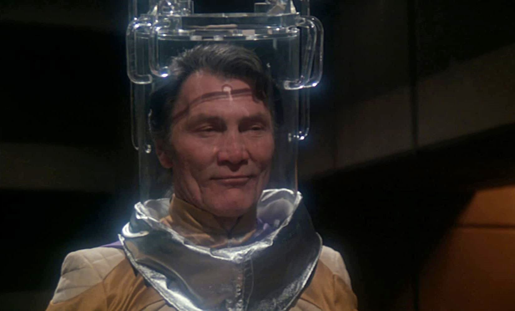 Jack Palance as intergalactic dictator Omus in The Shape of Things to Come (1979)