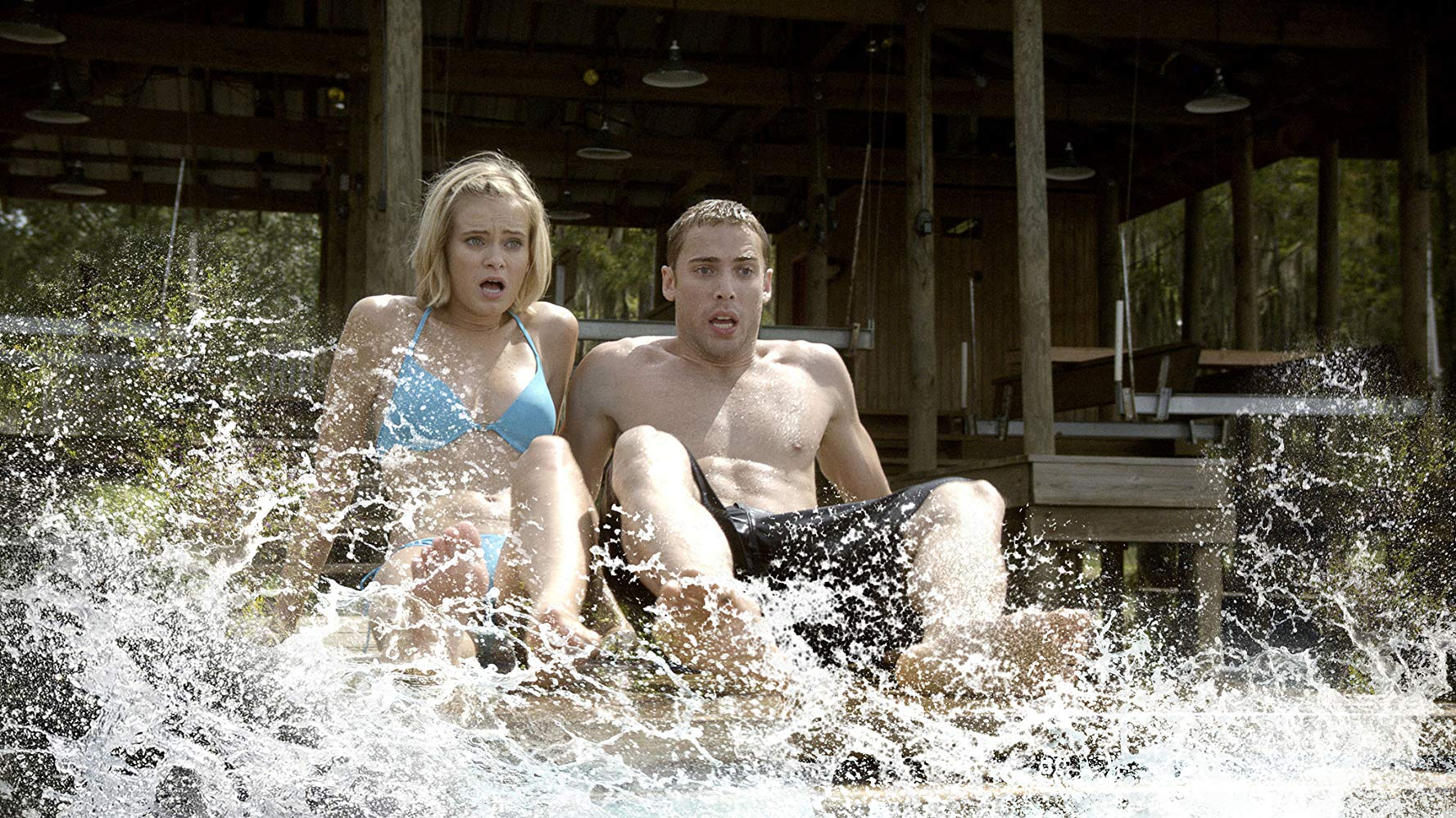 Sara Paxton and Dustin Milligan in Shark Night 3D (2011)