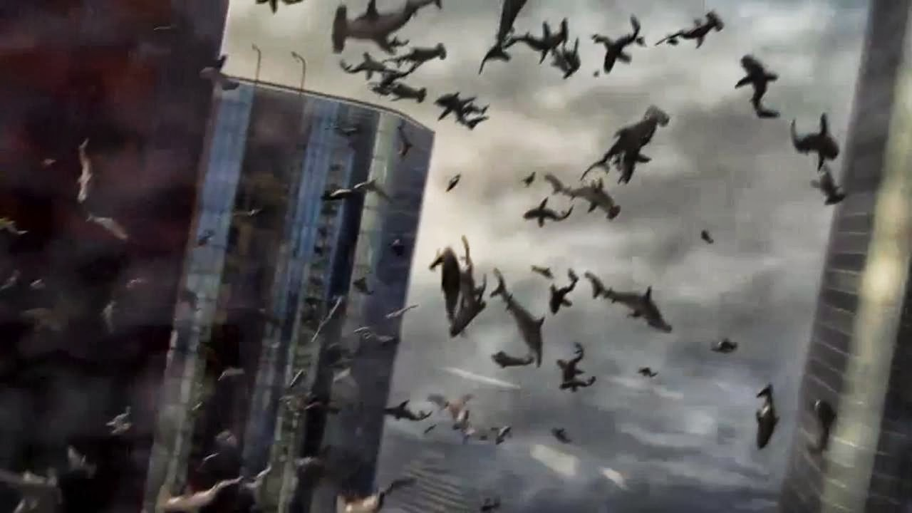 A tornado of sharks in Sharknado (2013)