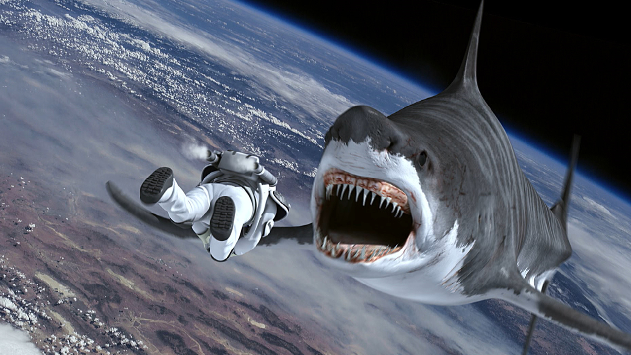 Sharks in space in Sharknado 3 Oh Hell No (2015) 3