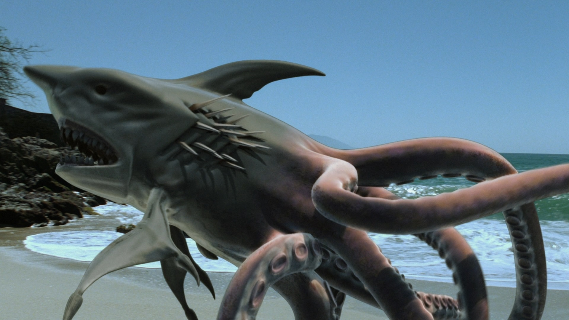 The Sharktopus, combination shark and octopus