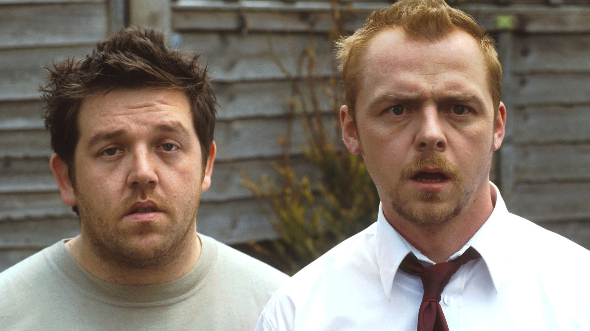 Simon Pegg and Nick Frost in Shaun of the Dead (2004)