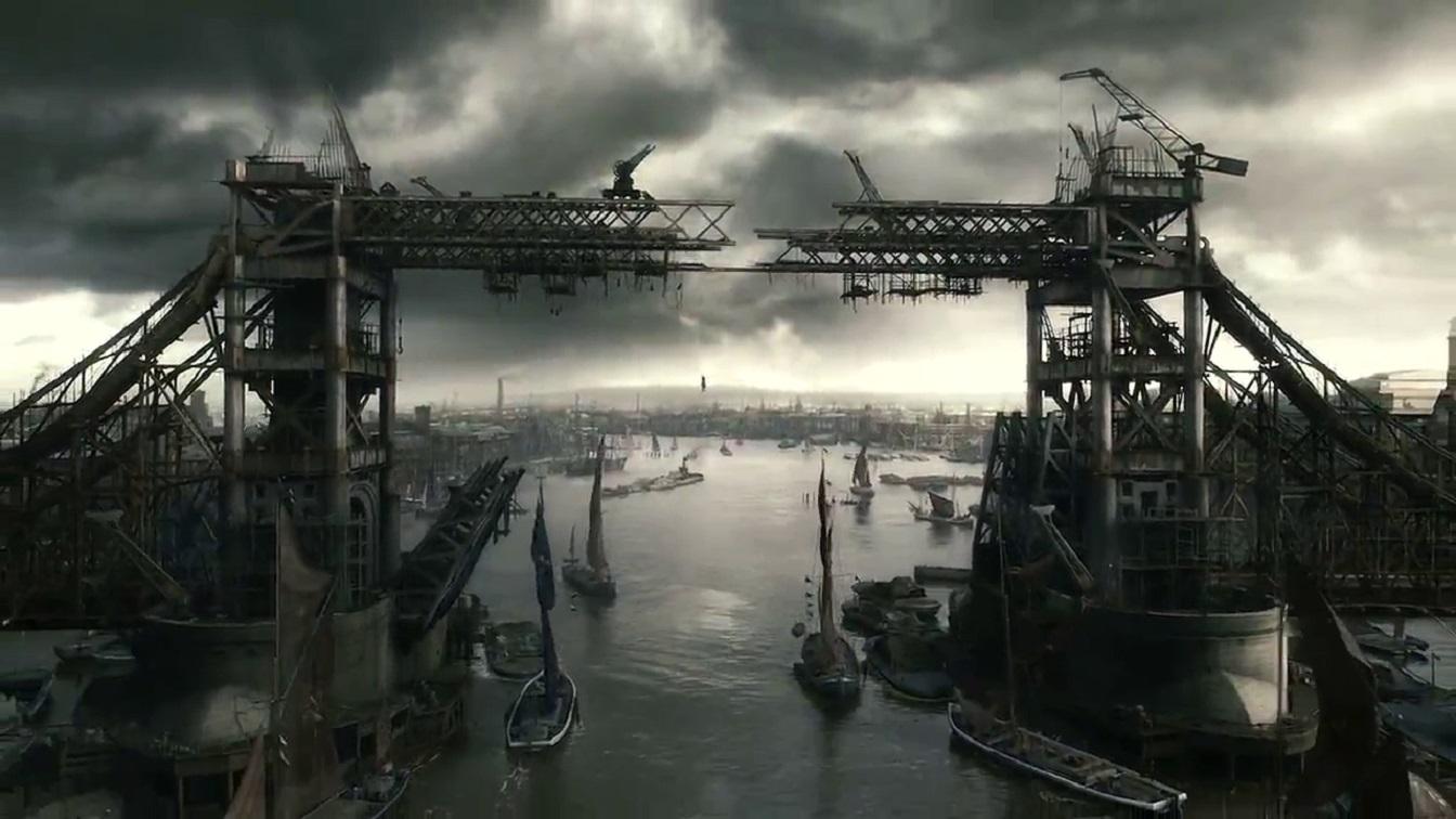 The half-completed London Tower Bridge in Sherlock Holmes (2009)