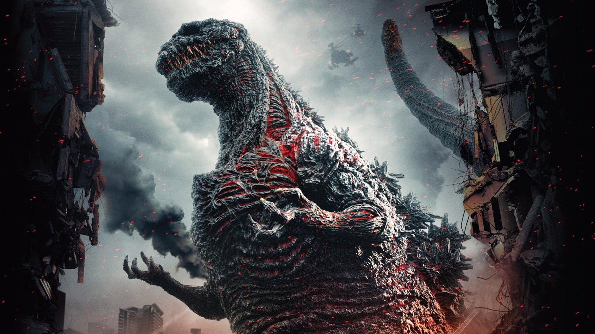 Godzilla with ferocious new redesign in Shin Godzilla (2016)