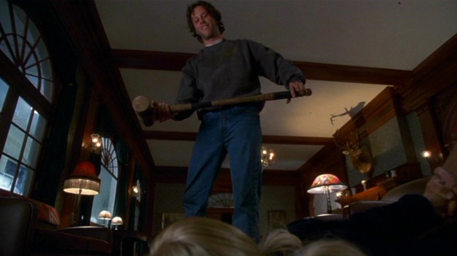 Steven Weber goes amok with a croquet mallet in The Shining (1997)