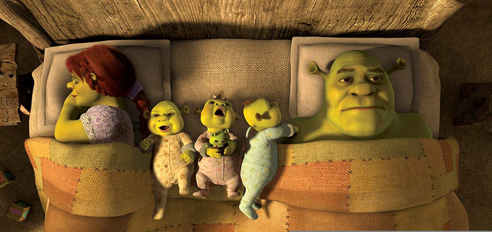 Shrek feels unhappy with the settled down domestic life in Shrek Forever After (2010)