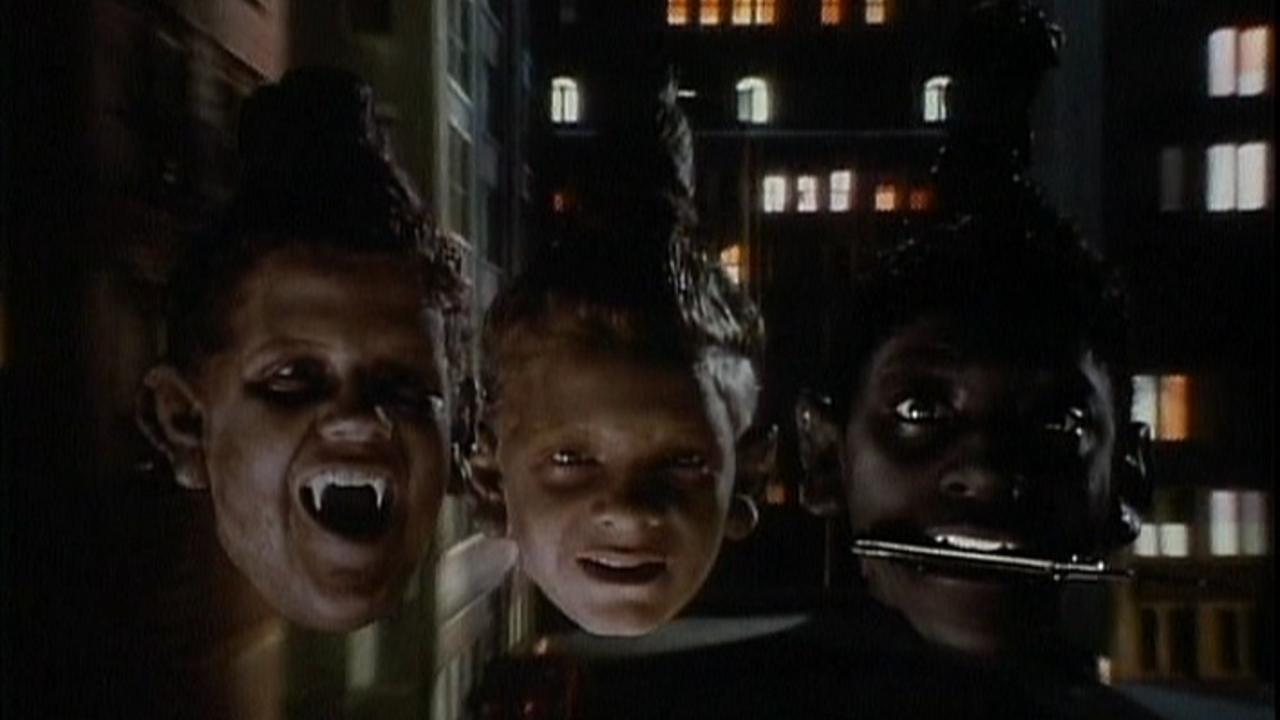 The three shrunken heads - (l to r) Bo Sharon, Aeryk Egan, Darris Love in Shrunken Heads (1994)
