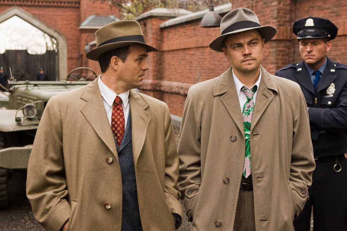 Mark Ruffalo and Leonardo DiCaprio arrive on Shutter Island (2010)