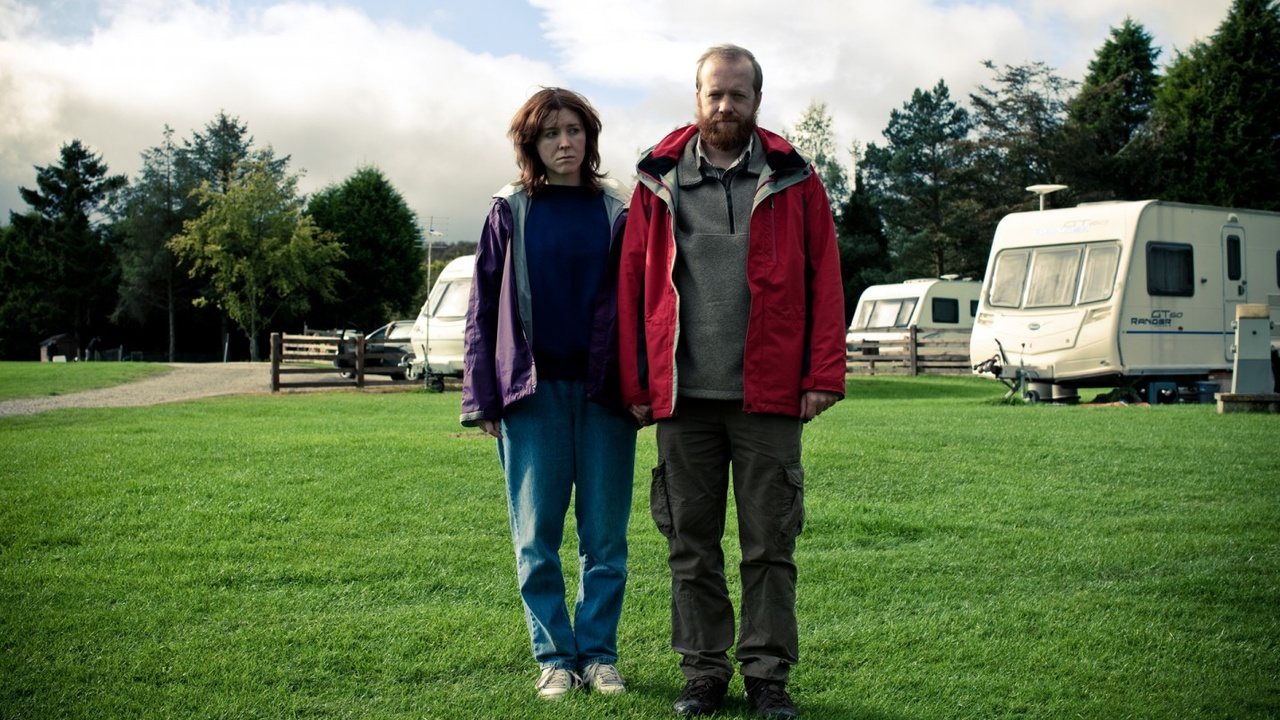 Alice Lowe and Steve Oram - psychopathic tourists on a caravan holiday in Sightseers (2012)