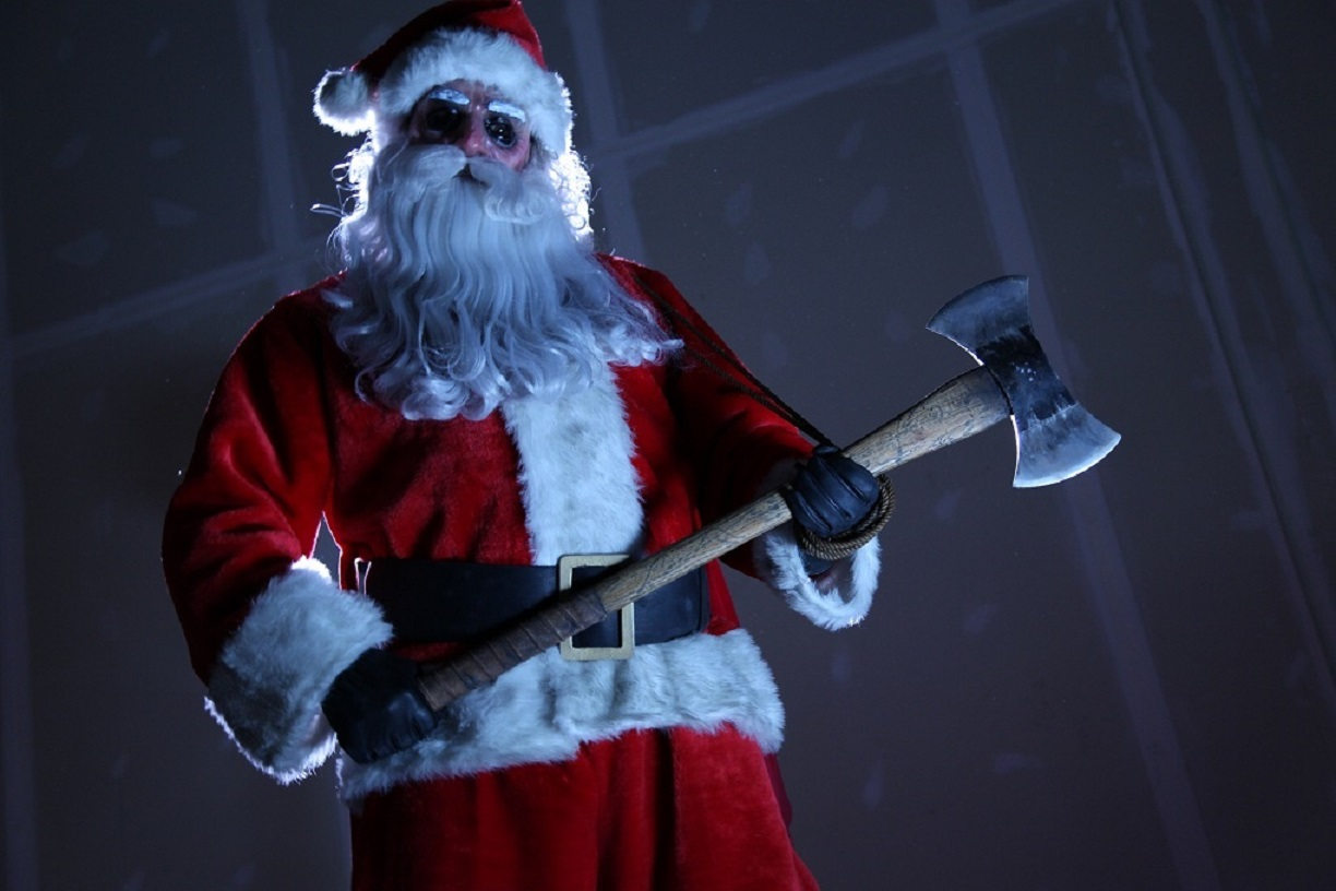 Psycho Santa with an axe in Silent Night (2012)