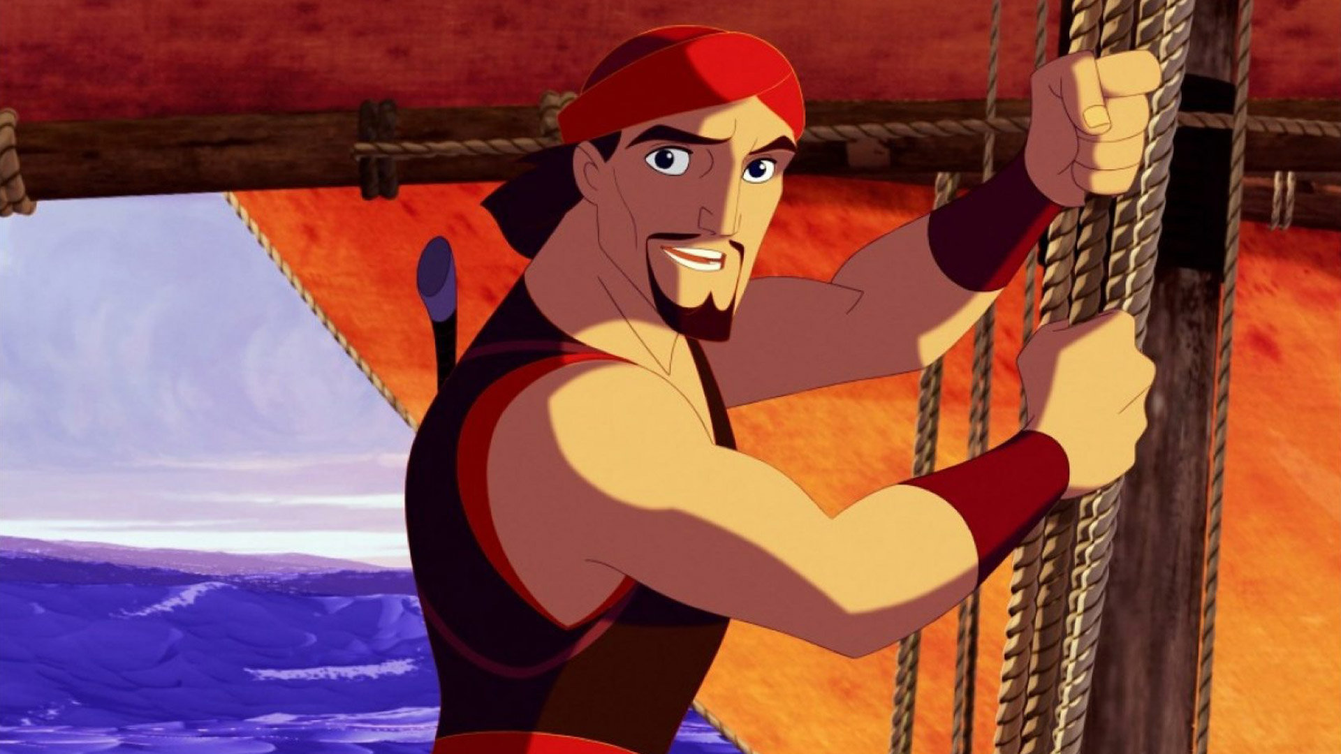 Sinbad the sailor (voiced by Brad Pitt) in Sinbad: Legend of the Seven Seas (2003)