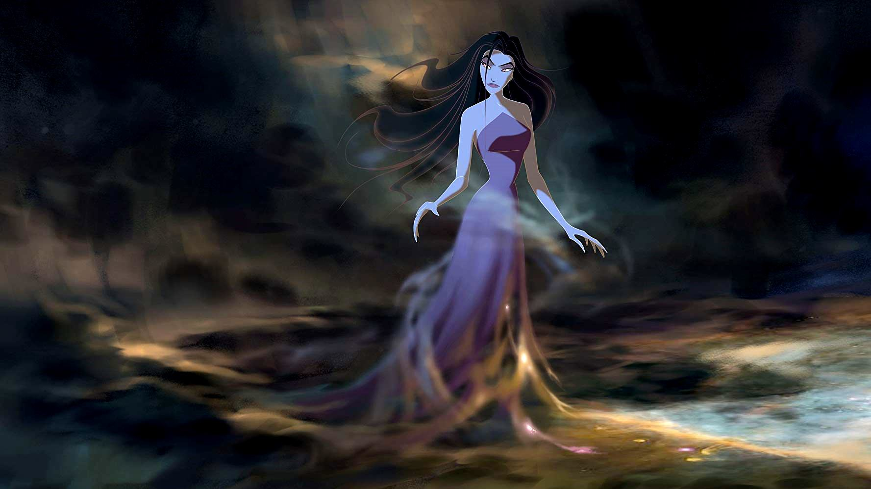 The goddess Eris (voiced by Michelle Pfeiffer) in Sinbad: Legend of the Seven Seas (2003)