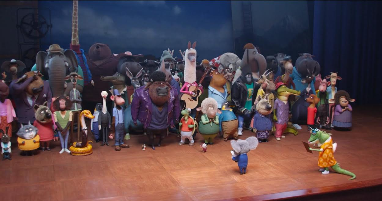 The animals are rehearsed for their stage debuts in Sing (2016)