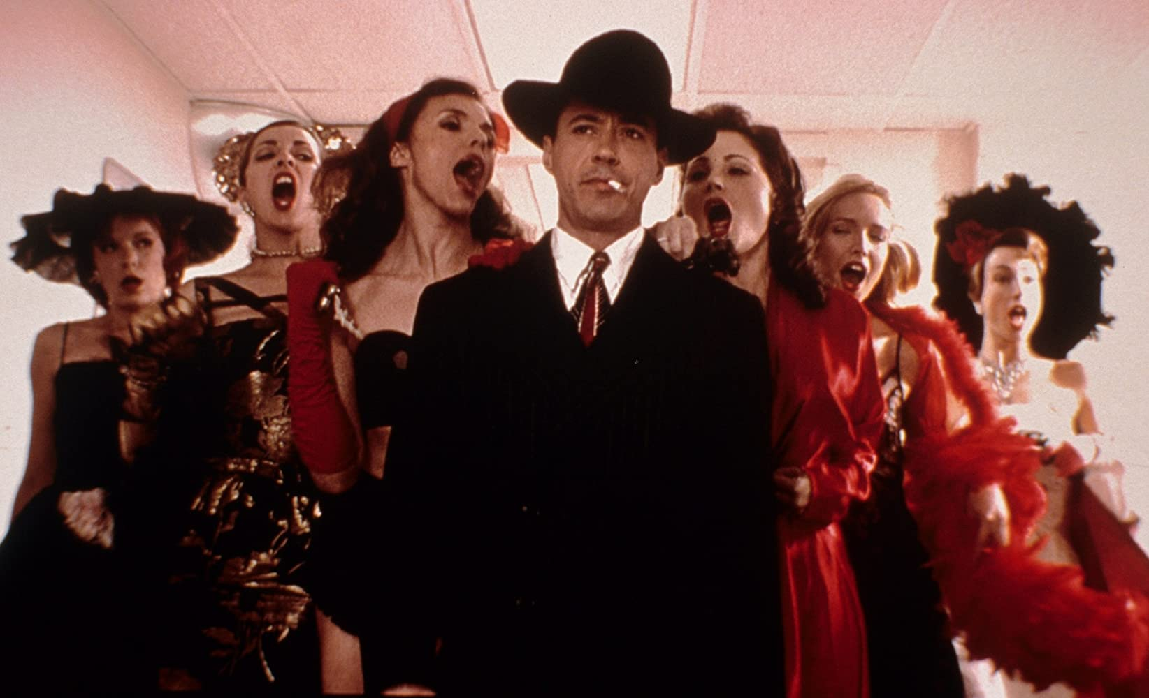 Robert Downey Jr in a 1940s film noir dreamworld in The Singing Detective (2003)