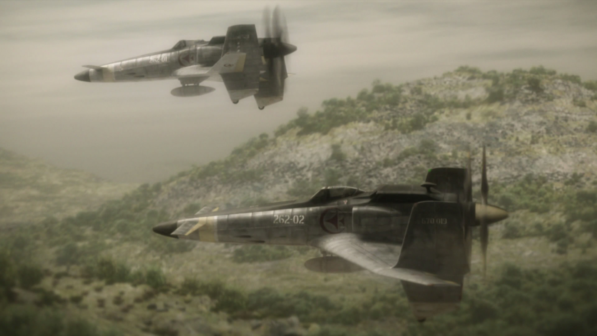 Mamoru Oshii's stunningly animated aerial combat sequences in The Sky Crawlers (2008)