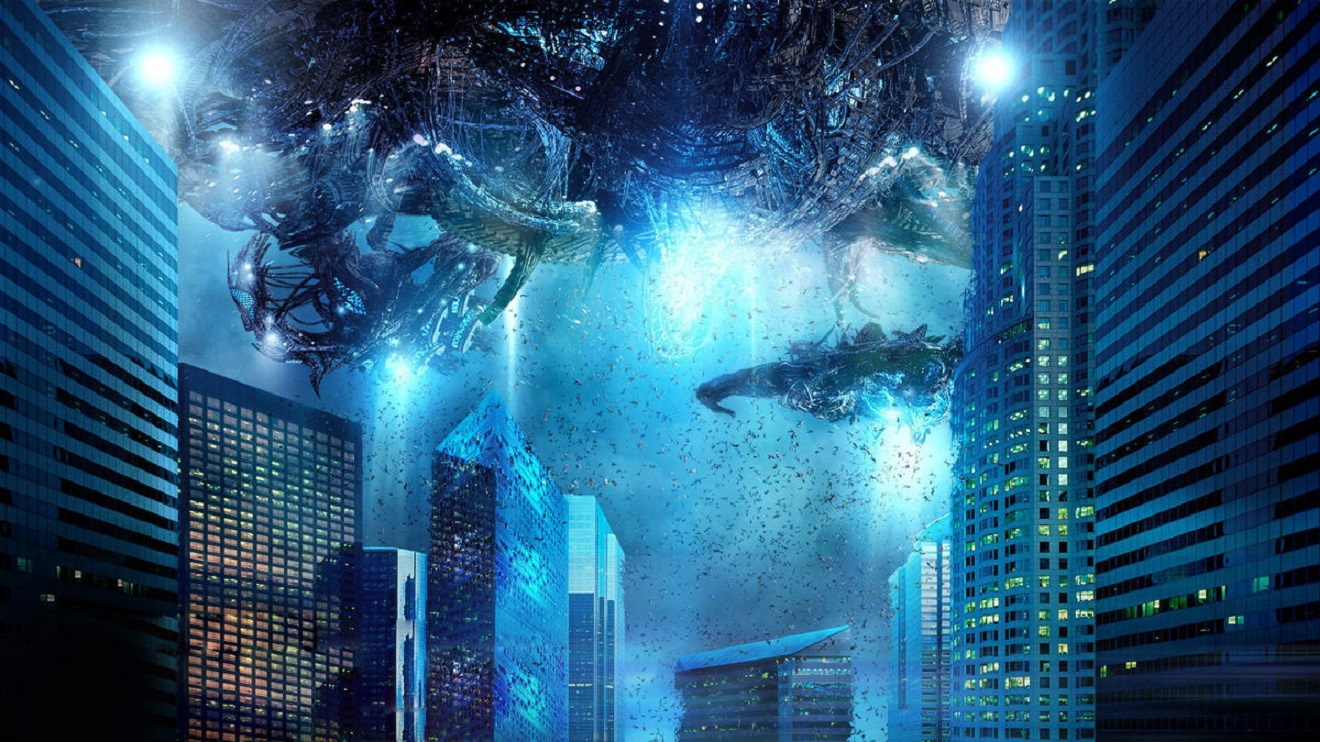 Alien invasion over L.A. in Skyline (2010)