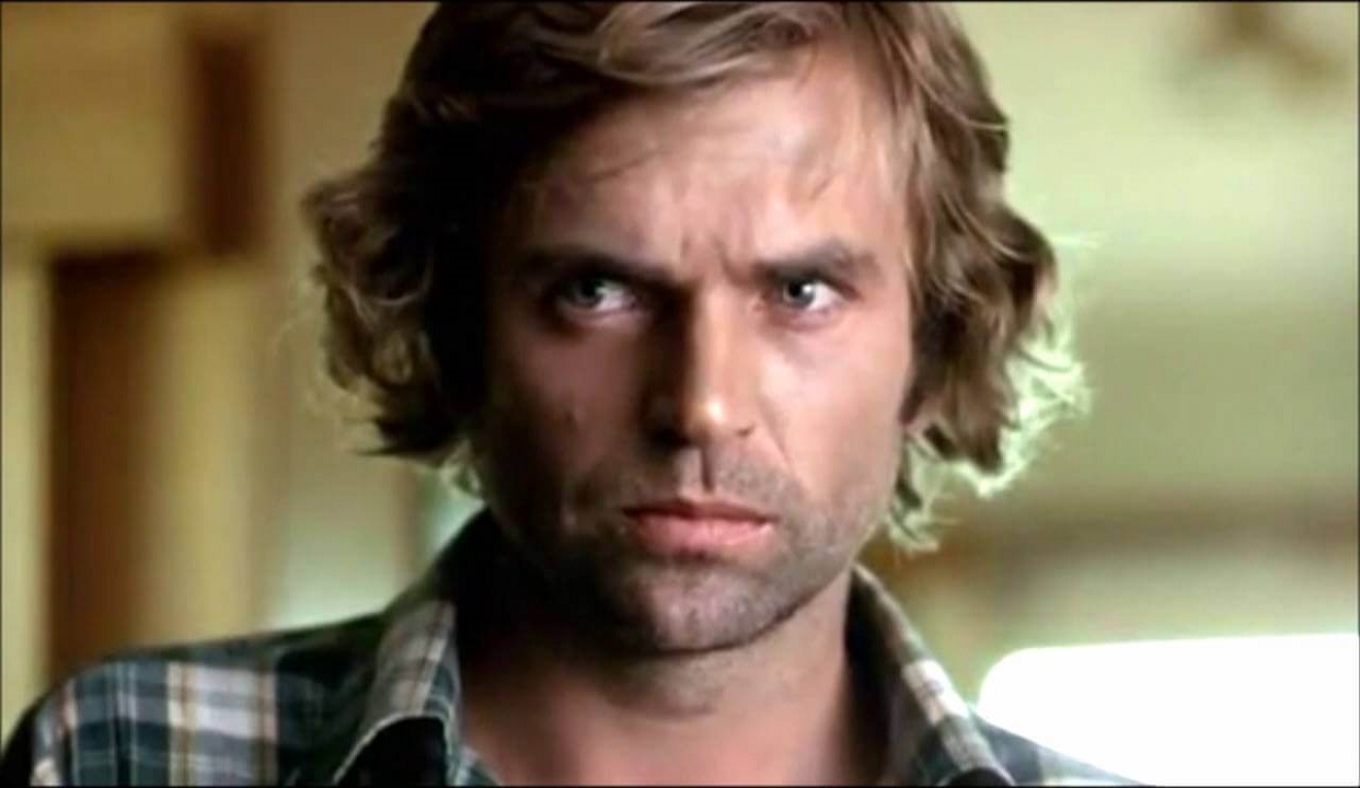 Sam Neill in his first film role as Smith in Sleeping Dogs (1977)