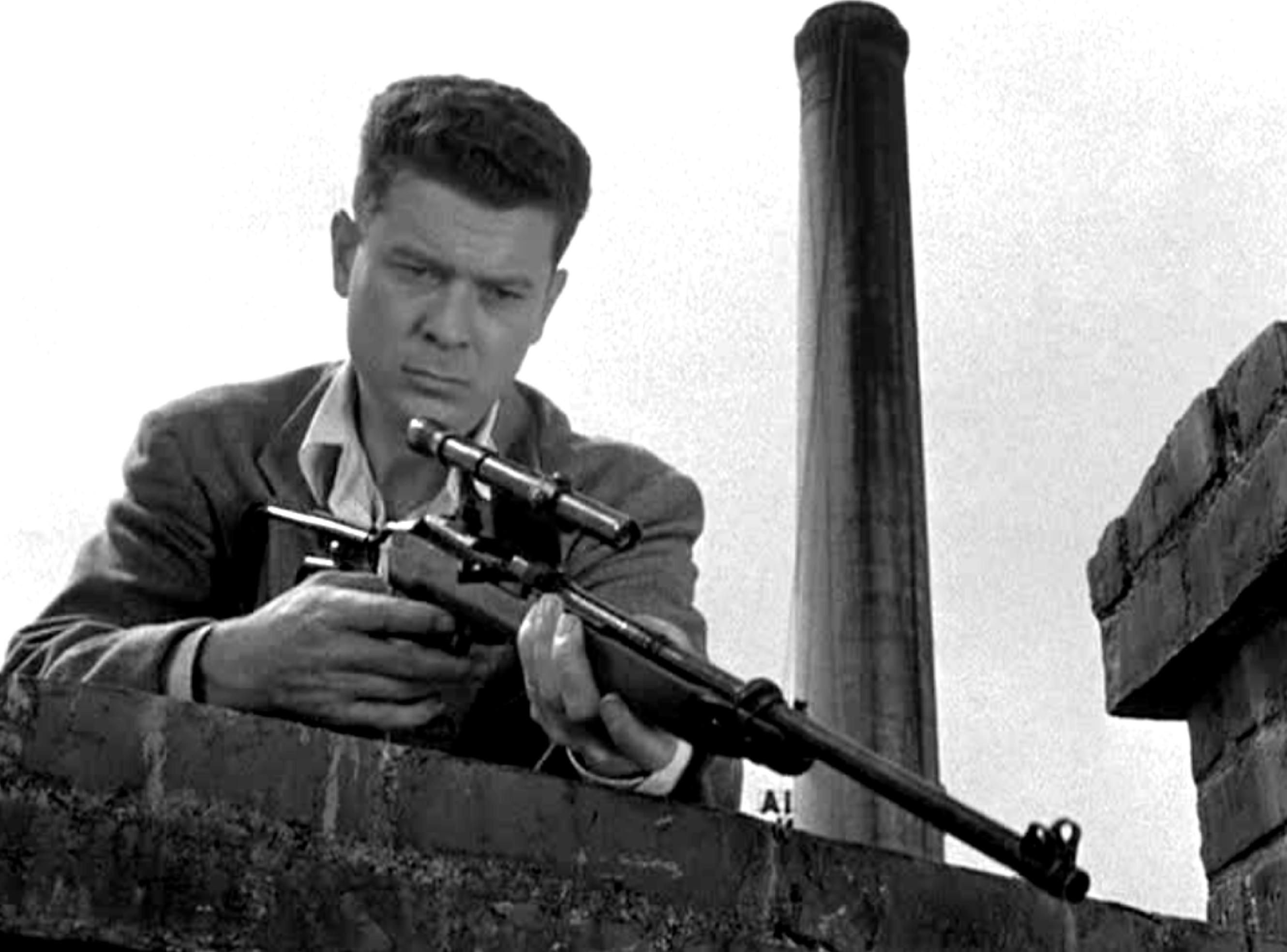 Arthur Franz on a shooting spree in The Sniper (1952)