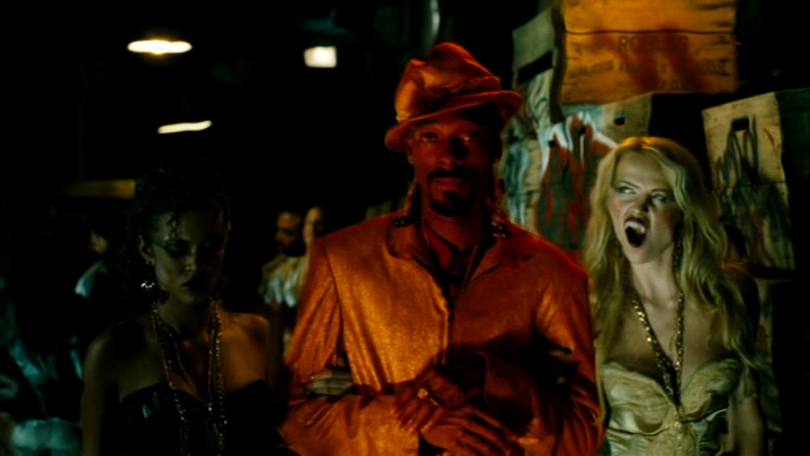 Snoop Dogg surrounded by his undead hoes in Snoop Dogg's Hood of Horror (2006)