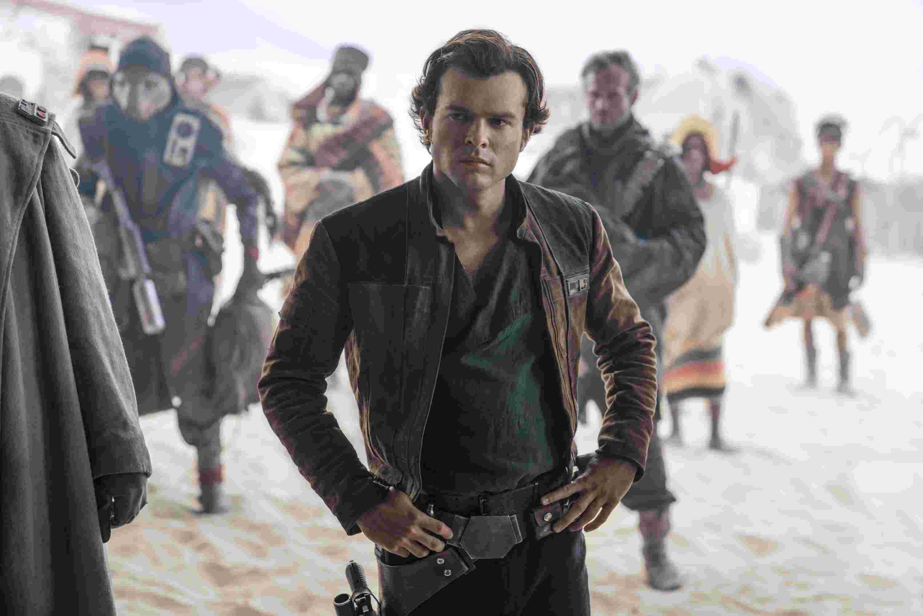 Alden Ehrenreich as the young Han Solo in Solo A Star Wars Story (2018)