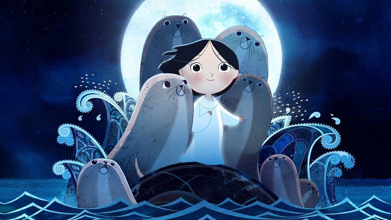 Saoirse among the seals in Song of the Sea (2014)