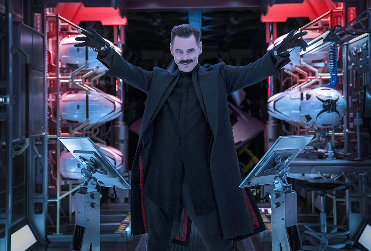 Jim Carrey as Dr Robotnik in Sonic the Hedgehog (2020)