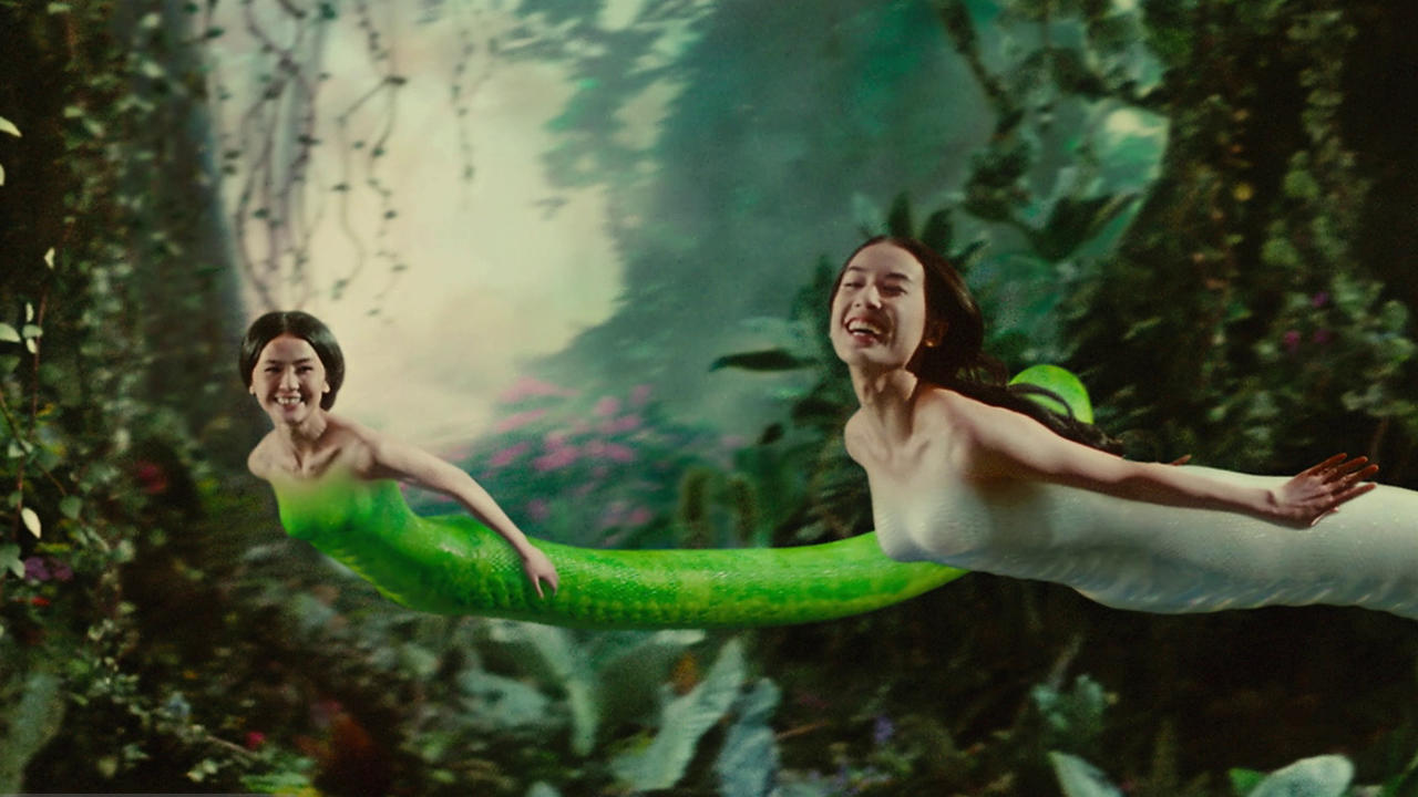 The two sisters - (l to r) Green Snake (Charlene Choi) and White Snake (Shengyi Huang) in The Sorcerer and the White Snake (2011)