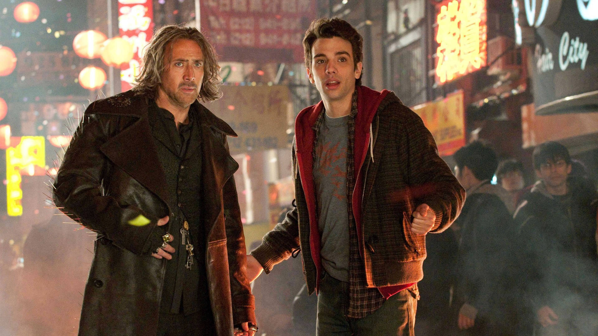Sorcerer Balthazar (Nicolas Cage) and his apprentice Dave Stutler (Jay Baruchel) in The Sorcerer's Apprentice (2010)
