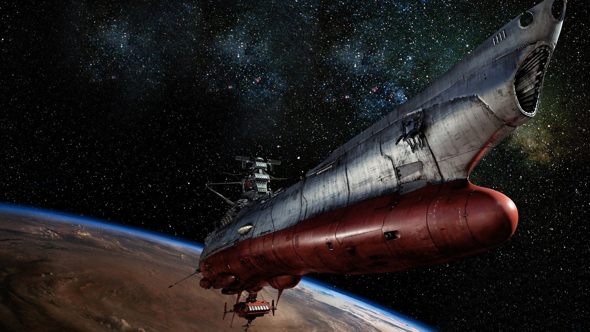The Yamato is launched in Space Battleship Yamato (2010)