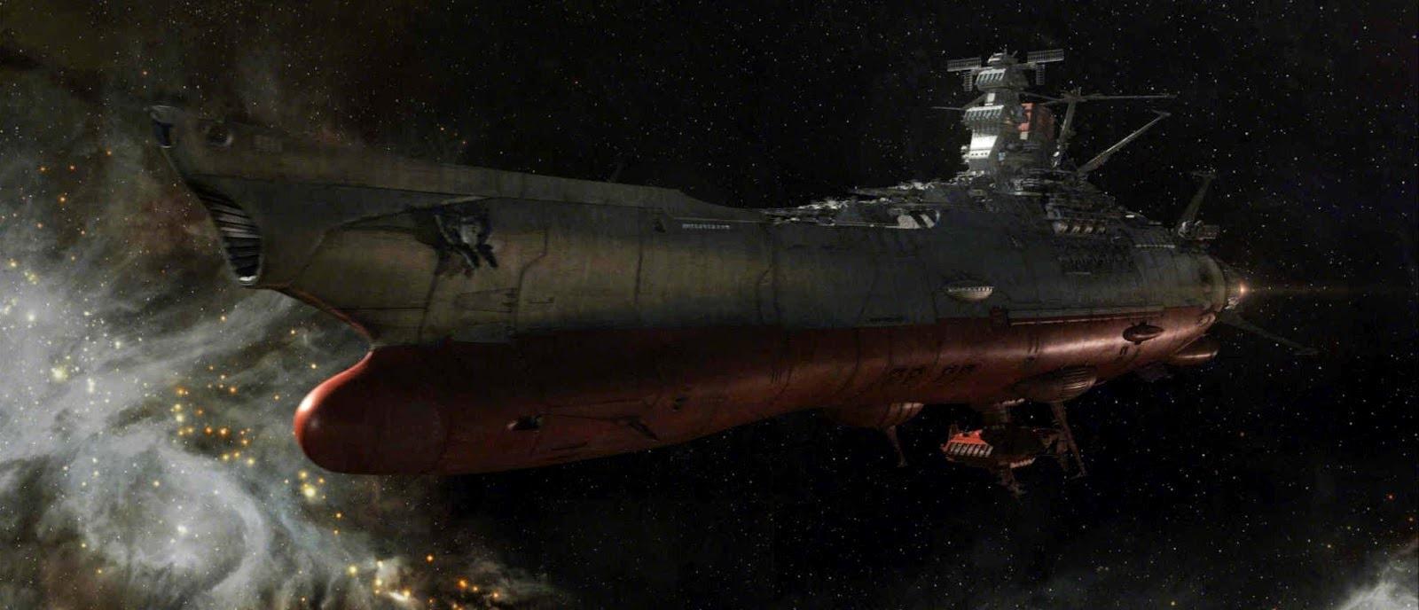 The Yamato on its interstellar journey in Space Battleship Yamato (2010)