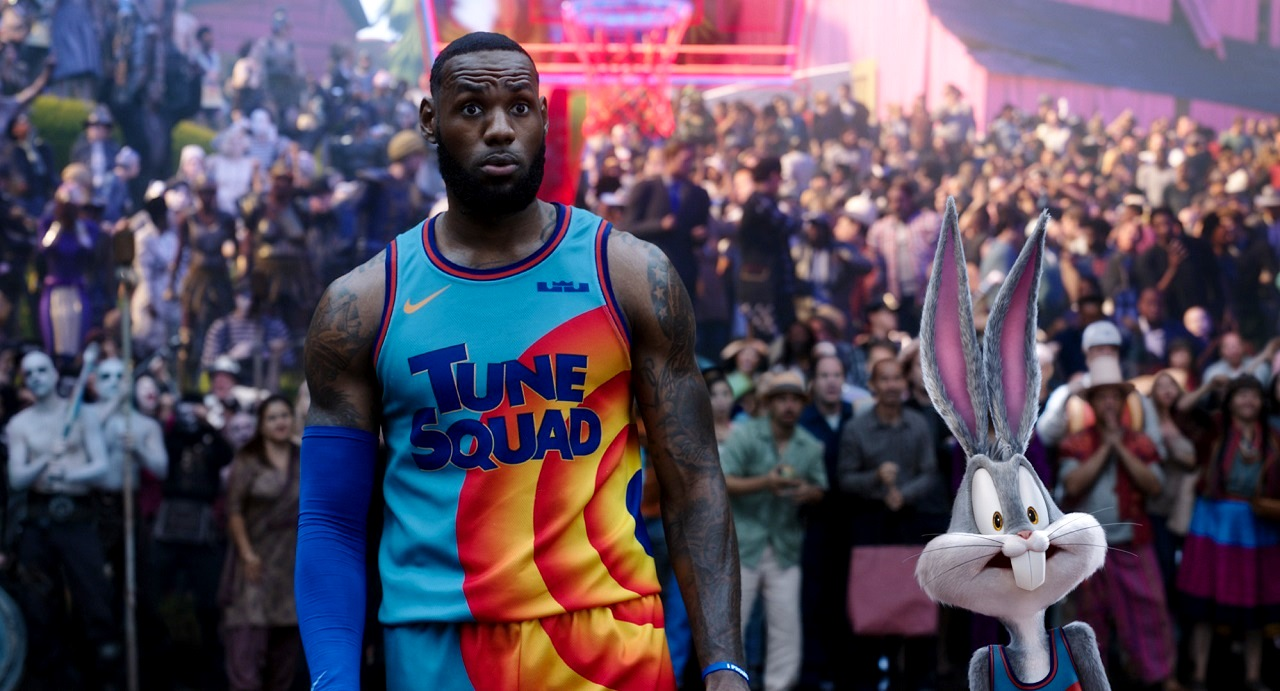 LeBron James and Bugs Bunny in Space Jam: A New Legacy (2021)