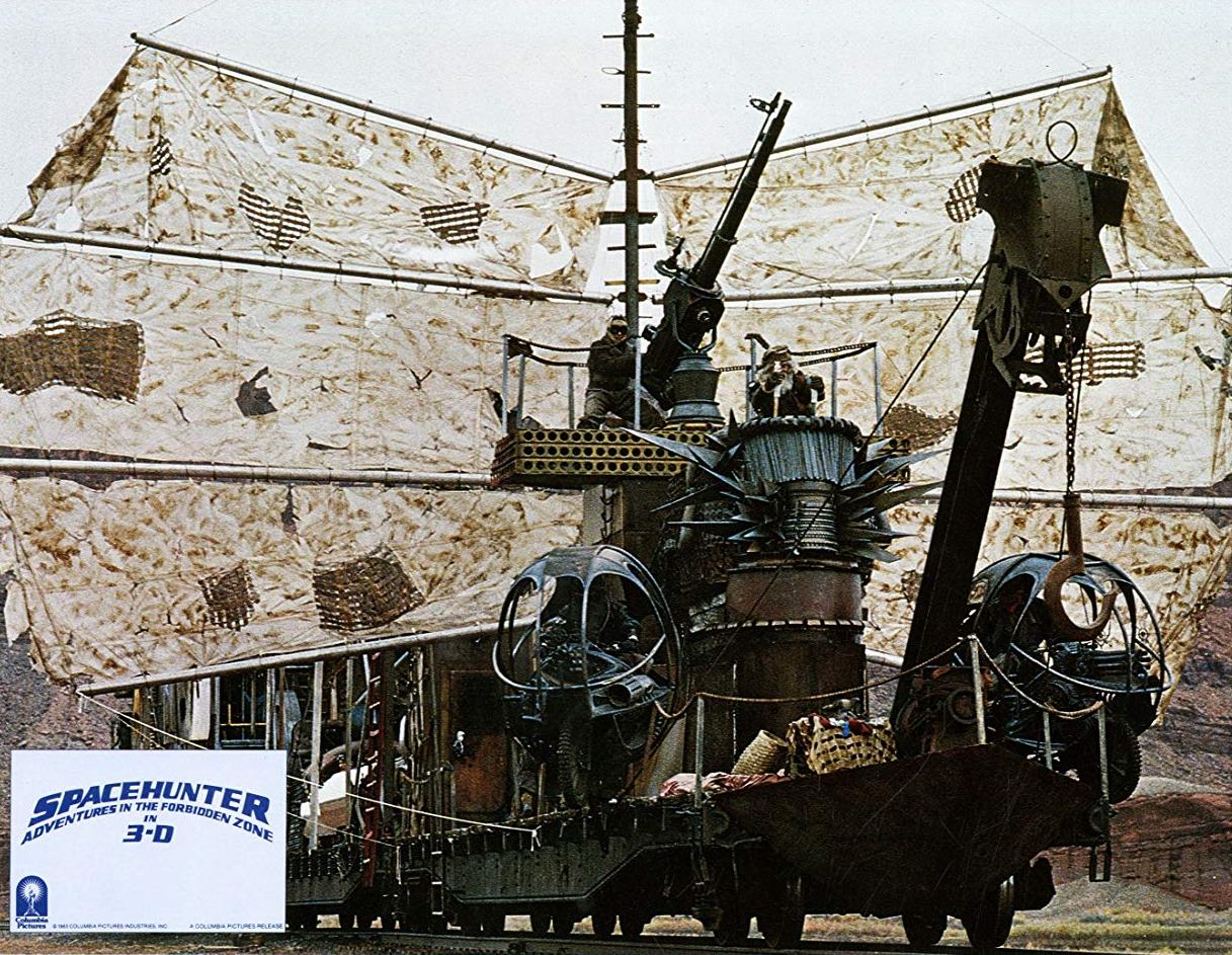 Highly imaginative junkyard world sets in Spacehunter: Adventures in the Forbidden Zone (1983)