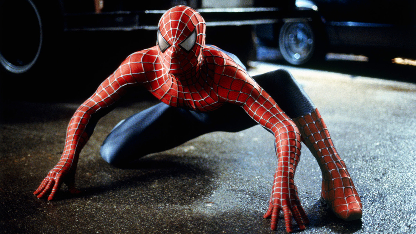 Tobey Maguire as Spider-Man in Spider-Man (2002)
