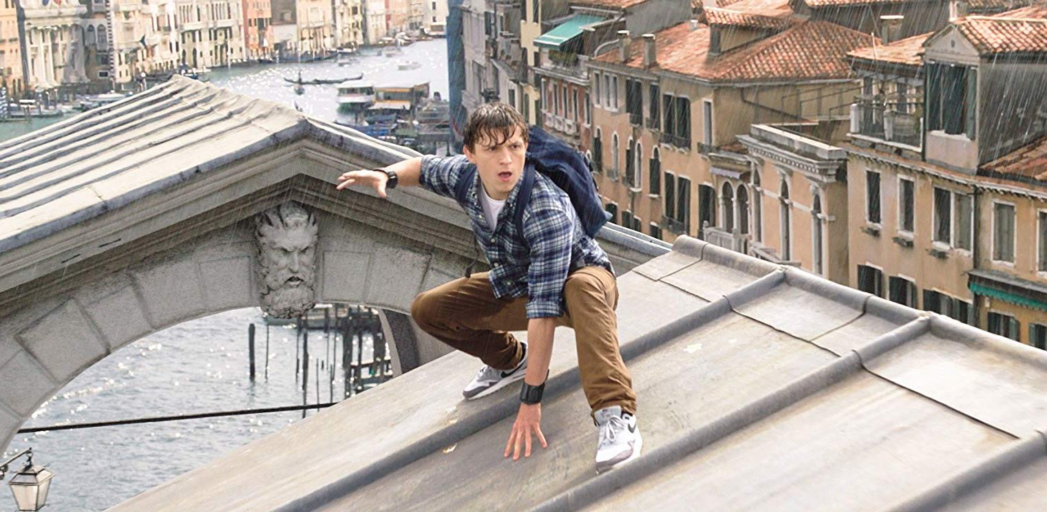 Peter Parker (Tom Holland) in Venice in Spider-Man: Far from Home (2019)
